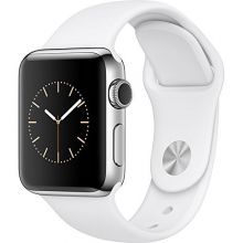 Умные часы Apple Watch Series 2 42mm Silver Aluminum Case with White Sport Band