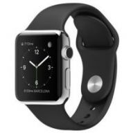 Умные часы Apple Watch 38mm Stainless Steel Case with Black Sport Band
