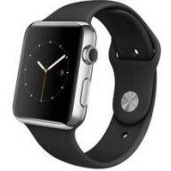 Умные часы Apple Watch 42mm Stainless Steel Case with Black Sport Band