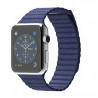 Умные часы Apple Watch 42mm Stainless Steel Case with Bright Blue Leather Loop