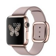 Умные часы Apple Watch 38mm 18-Karat Rose Gold Case with Rose Gray Modern Buckle