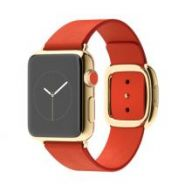 Умные часы Apple Watch 38mm 18-Karat Yellow Gold Case with Bright Red Modern Buckle