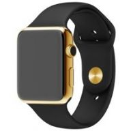 Умные часы Apple Watch 38mm Stainless Steel Case with Black Sport Band Gold Limited Edition