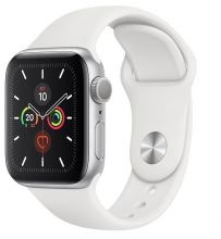Часы Apple Watch Series 5 GPS 40mm Aluminum Case with Sport Band (Серебристый/Белый)