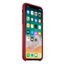 Чехол для iPhone X Apple Leather Case (PRODUCT) Red
