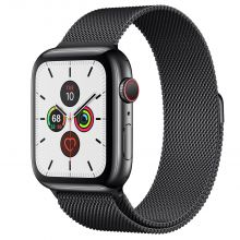 Часы Apple Watch Series 5 GPS + Cellular 44mm Stainless Steel Case with Milanese Loop (Черный космос)