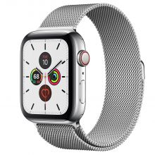 Часы Apple Watch Series 5 GPS + Cellular 44mm Stainless Steel Case with Milanese Loop (Серебристый)