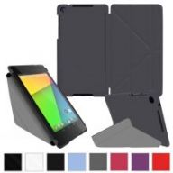 """ехол rooCASE Google Nexus 7 FHD Origami SlimShell Folio Case Cover - Grey"