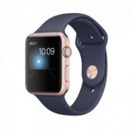 Умные часы Apple Watch Series 2 42mm Rose Gold Aluminum Case with Midnight Blue Sport Band