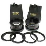 Vivitar Digital Multi-Coated 2.5x Telephoto & .43x Wide-Angle Lens with Macro (49mm/52mm/55mm/58mm)