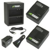 Зарядка Wasabi Power Dual Charger GoPro Hero 3/3+ + 2 аккумулятора Wasabi Power 1280 mAh