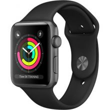 Apple Watch Series 3 38mm Aluminum Case with Sport Band (Space Gray/Black)
