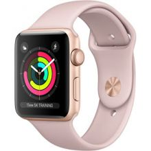 Apple Watch Series 3 42mm Aluminum Case with Sport Band (Gold/Pink Sand)