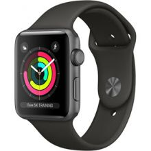 Apple Watch Series 3 42mm Aluminum Case with Sport Band (Space Gray/Gray)