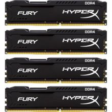 Модули памяти 32GB (4X8) DDR4 2666 MHz Kingston HyperX Fury (HX426C15FBK4/32)