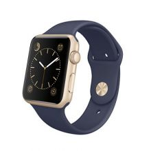 Умные часы Apple Watch Series 1 42mm Gold Aluminum Case with Midnight Blue Sport Band