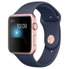 Умные часы Apple Watch Series 1 42mm Rose Gold Aluminum Case with Midnight Blue Sport Band