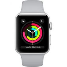Apple Watch Series 3 38mm Aluminum Case with Sport Band (Silver/Fog)